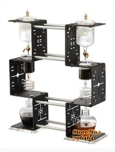 4C red Trendy Series ice coffee dripper/Water drip coffee maker 1300ml DUTCH COFFEE gift& collection