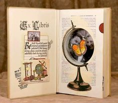 what a great job she did! really like this idea for granddaughters.  Kays Keepsakes Blog: Altered Book Featuring Globe Shape Niche.
