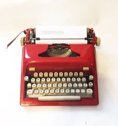 Ruby Red Royal Futura 800 Typewriter /  Serviced /  New Ribbon