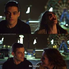Be Happy! {Such an emotional scene!} #2015 #MrRobot #BestShow #WhiteRose…