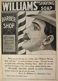 1899 Williams Shaving Soap Ad