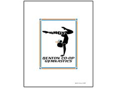 Personalized Gymnast Signature Poster Print Gymnastics Team