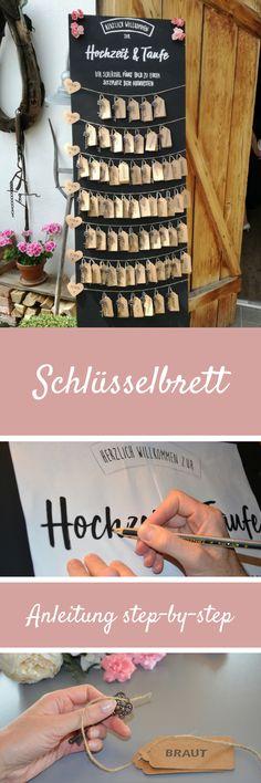 Schlüsselbrett Anleitung #Hochzeit #Feier #step-by-step