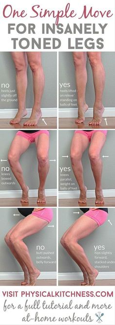 Yes, ONE barre-inspired move will tone and sculpt you legs like no other exercise out there. Check out the full tutorial for this workout you can do anywhere.Yes, ONE barre-inspired move will tone and sculpt you legs like no other exercise Fitness Workouts, Fitness Motivation, Sport Fitness, Body Fitness, Fitness Diet, At Home Workouts, Health Fitness, Leg Workouts, Workout Routines