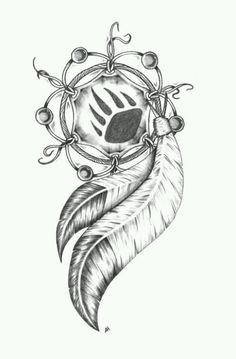 Dream Catcher tattoo bear claw. Naitve American