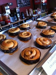 Cinnamon Rolls from Best Regards Bakery... divine!  Overland Park Grilled Cheese Special every day- fabulous