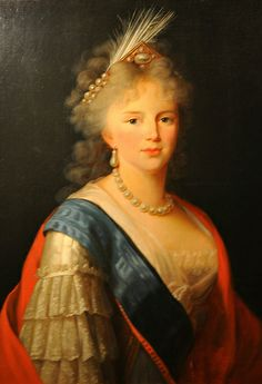 portrait of Catherine the Great hanging in the Catherine Palace (Tzarskoje Selo), Pushkin, Russia