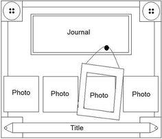 scrapbook design sketches - Google Search