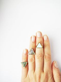 Items similar to Geometric knuckle triangle ring . Choose Your Color Geo ring. Simple modern geo ring Polymer clay on Etsy Hipsters, Jewelry Accessories, Fashion Accessories, Jewelry Design, Hippie Style, Polymer Clay Ring, Triangle Ring, By Any Means Necessary, 3d Prints