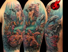 The Best Mermaid Tattoos and Designs. #2 is Insane!