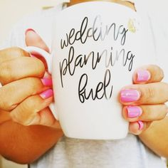 Wedding Planning Custom Mug.  Love it! You ladies come up with the best ideas for me to create. HAPPY WEDDING PLANNING.  home trend, bride gifts, planner gifts, gift ideas, wedding planner life, bride accessories, wedding planning tips, bride and wedding magazine, goal digging, she said yes, bridesmaid gift ideas, bride tribe mug, bridal gift, bridal shop, bridal shower favors, black bride, black own business, but first coffee mug, custom coffee mug