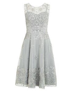 Verdi Dress | Silver | Monsoon