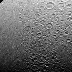 In the north, Enceladus' surface appears to be about as old as any in the solar system. The south, however, is an entirely different story.