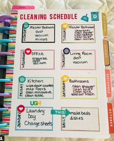 new home cleaning Planner Tips, Planner Layout, Planner Pages, Printable Planner, Printables, Planner Organization, Organizing, Bullet Journal Ideas Pages, Bullet Journals