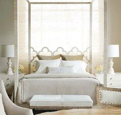 Gorgeous four poster bed.