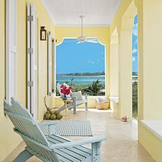 Pale Yellow Porch