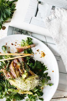 spicy tuna and shiso salad