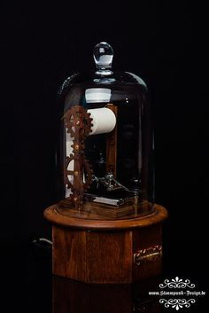 Steampunk Morse code Printer by Admiral Aaron Ravensdale from Steampunk Design. Picture by Thomas Clemens Photography.