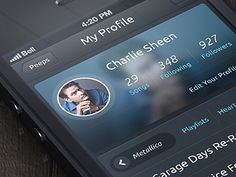 Beautiful iOS layout profile design found on Dribbble.