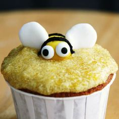 Honey Bee Cornmeal Cupcakes