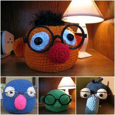 Crochet Muppet Eyeglass Holder