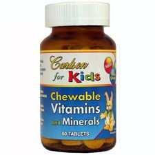 Kids Chewable Vitamins and Minerals, 60 Tablets, Carlson Labs