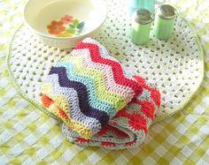 ripple crochet dishcloth