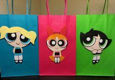 Powerpuff Girls Party Bags by 1CraftyMamaBear on Etsy
