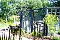 Wrought Iron Arbor Patio Ideas, Outdoor Ideas, Enclosed Patio, Wrought Iron Fences, Outdoor Structures, Building, Places, House, Decor