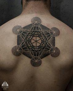 f0c10d754 Negative metatron cube, sacred geometry, dotwork, back tattoo Geometric  Mandala, Geometric Symbols
