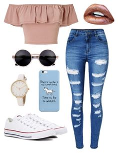 """Untitled #161"" by brodriguez8104 on Polyvore featuring Miss Selfridge, WithChic and Converse"