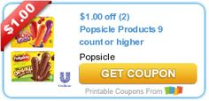 $1.00 off (2) Popsicle Products 9 count or higher