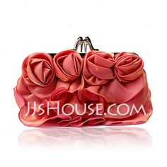 [US$ 12.99] Charming Satin With Flower Clutches (012026225)