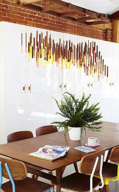colorful hanging sculpture #decor #art