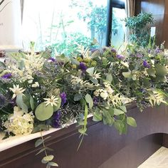 Rustic Theme, Purple, Green, Nature, Flowers, Plants, Wedding, Color, Garlands