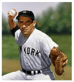 Yogi Berra - former American Major League Baseball catcher, outfielder, and manager Baseball Star, Baseball Players, Baseball Cards, Sport Icon, The Outfield, Sports Figures, National Hockey League, Sports Stars, Before Us