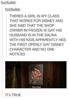 Oh well done Disney, you included a non-straight in such a small way that almost…