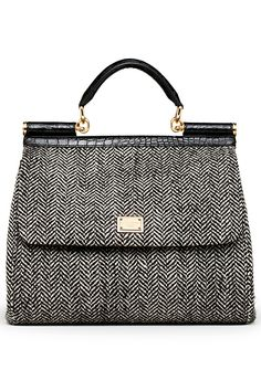 I like this bag!  Not sure I'm old enough to pull off the look though.     Dolce & Gabbana - 2013 Fall-Winter
