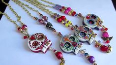 Necklaces: Sugar Skull ☆ Handicraft Ideas