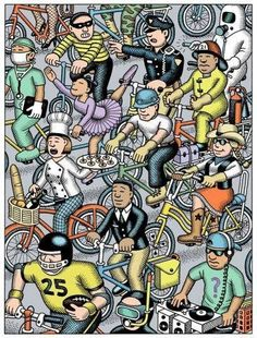 All kinds of Cyclists
