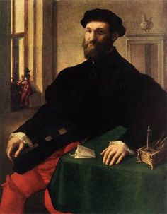 CAMPI, Giulio (b. ca. 1508, Cremona, d. 1572, Cremona)   Click! Portrait of a Man  - Oil on canvas, 105,5 x 83 cm The Hermitage, St. Petersburg  Formerly the painting was attributed to Anthonis Mor, then to Paris Bordone, and later to Lorenzo Lotto.