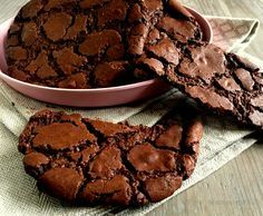 Tolle Schokoladenplätzchen a la Brownies . Yummy Treats, Delicious Desserts, Sweet Treats, Yummy Food, Baking Recipes, Cookie Recipes, Dessert Recipes, Sweets Cake, Cupcake Cakes