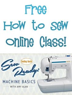 FREE How to Use a Sewing Machine Online Class!
