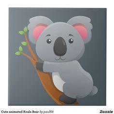 Cute animated Koala Bear Ceramic Tile