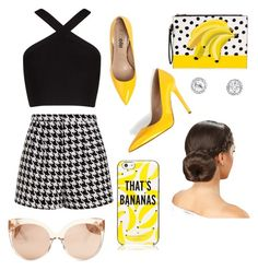 """""""Bananas 🙌🏼"""" by sophg26 ❤ liked on Polyvore featuring Emma Cook, BCBGMAXAZRIA, Kate Spade and Linda Farrow"""