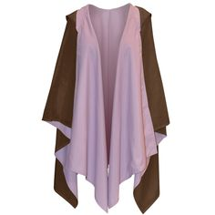 Hooded Rain Wrap Brown Lavender This is a great wrap for running a couple of errands, i.e. getting the mail, picking up kids from school or practice, stopping at the grocery store, etc.... I would like one like this.
