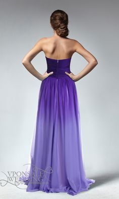 ombre bridesmaid dress back~