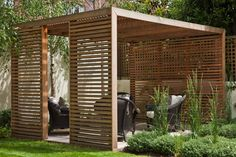 Cedar Pavillion, modern & clean softened by planting and t… | Flickr
