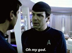 Star Trek. Spock. Oh My God. Bloopers. Zachary Quinto