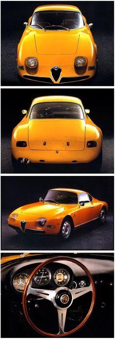 """Alfa Romeo Giulietta """"Goccia"""", 1961 - Designed by Michelotti. via boxer12c #alfaromeogiulietta"""